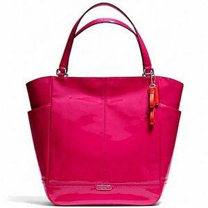 Coach Park Raspberry Pink Patent Leather Tote Bag